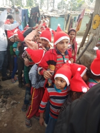 Celebrating Xmas & New year with poor children's_4