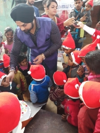 Celebrating Xmas & New year with poor children's_7