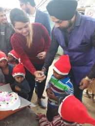 Celebrating Xmas & New year with poor children's_8