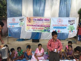 Serving Meal to slum children's_5